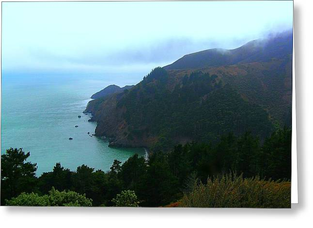 Marin County Greeting Cards - Marin Headlands in San Francisco California Greeting Card by Jen White