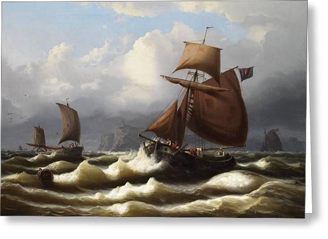 Marine Landscape Greeting Card by Eduard Schmidt