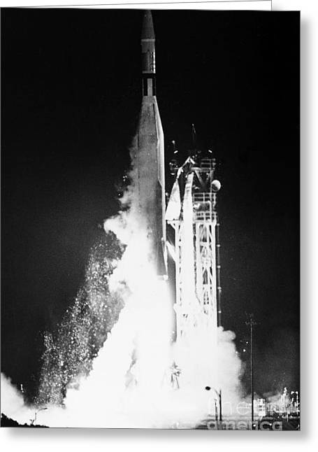 Ambition Greeting Cards - Mariner 1: Launch, 1962 Greeting Card by Granger