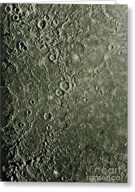 Mariner 10 Mosaic Of Mercury Showing Greeting Card by NASA / Science Source