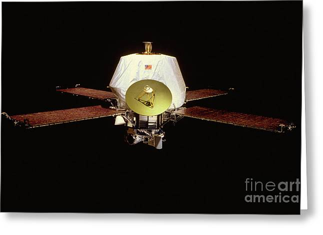 Phobos Greeting Cards - Mariner 9 Satellite Greeting Card by Nasa