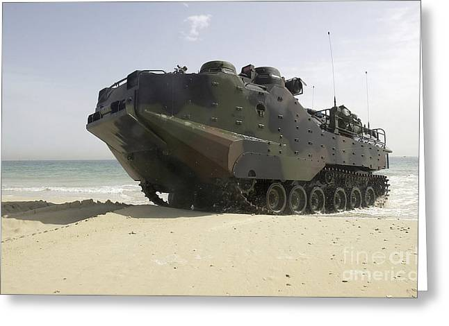 Marines Navigate An Amphibious Assault Greeting Card by Stocktrek Images