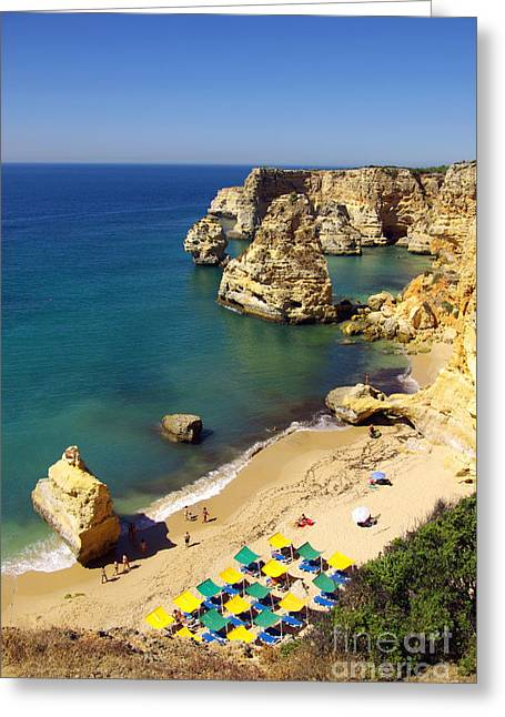 Algarve Greeting Cards - Marinha Beach Greeting Card by Carlos Caetano