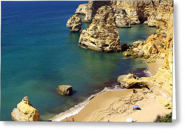 Marinha Beach Greeting Card by Carlos Caetano