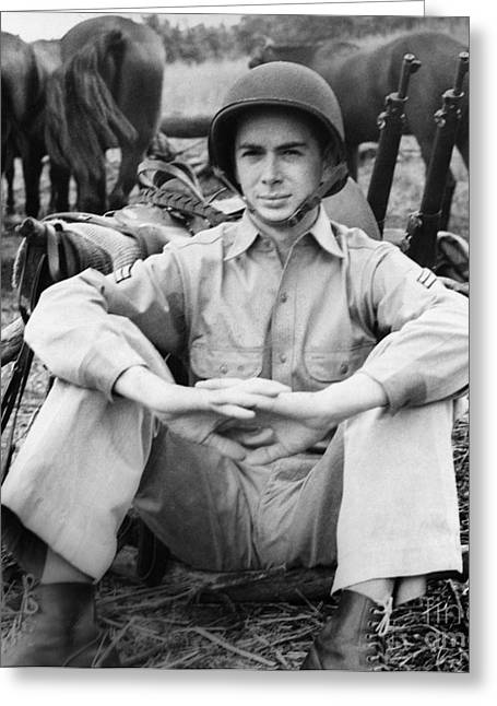 U.s Army Greeting Cards - Marion Hargrove (1919-2003) Greeting Card by Granger