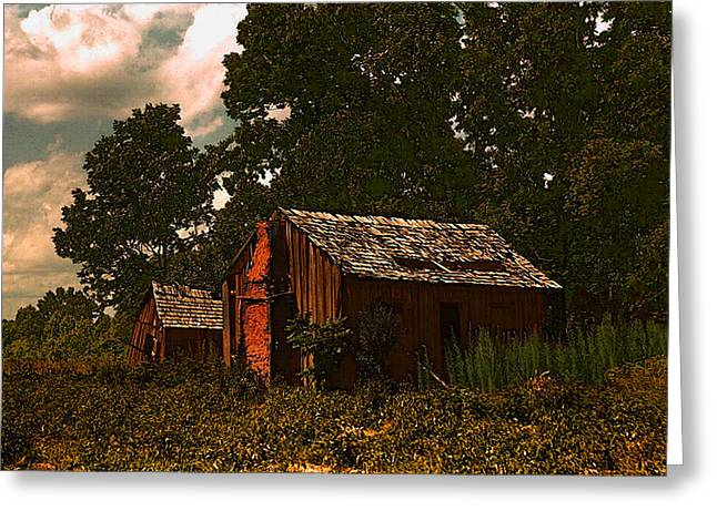 Shack Greeting Cards - Marion Post Wolcotts Abandoned Shacks Greeting Card by Timothy Bulone