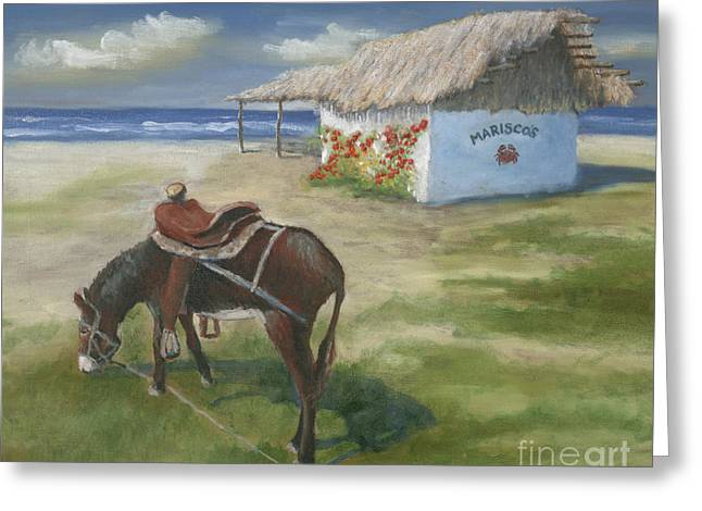Burro Greeting Cards - Mariscos in Punta Mita Greeting Card by Jerry McElroy