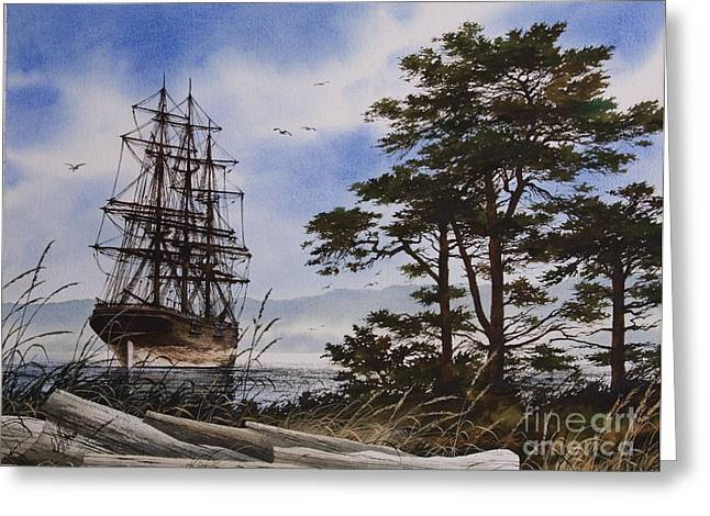 Maritime Print Greeting Cards - Maritime Shore Greeting Card by James Williamson