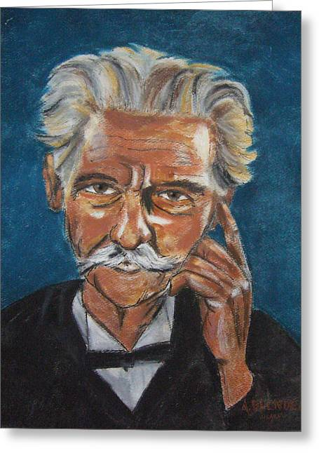 Blue Pastels Greeting Cards - Mark Twain Greeting Card by Arline Wagner