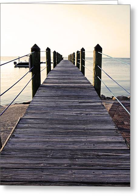 Islamorada Greeting Cards - Marker 88 Pier Greeting Card by Ty Helbach