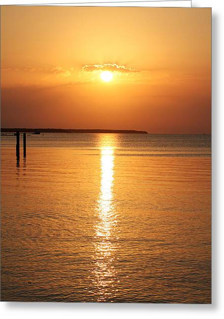 Islamorada Greeting Cards - Marker 88 Sunset Greeting Card by Ty Helbach