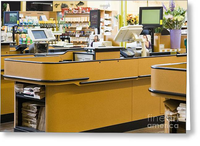 Market Checkstand Greeting Card by Andersen Ross