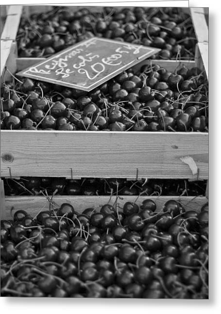 Fresh Produce Greeting Cards - Market Cherries Greeting Card by Nomad Art And  Design
