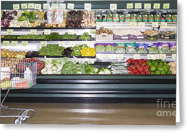 Grocery Store Greeting Cards - Market Produce Greeting Card by Andersen Ross