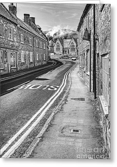 Dorset Greeting Cards - Market Street Abbotsbury Dorset Greeting Card by John Edwards
