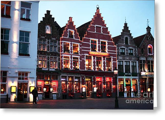 Markt Greeting Cards - Markt Greeting Card by John Rizzuto