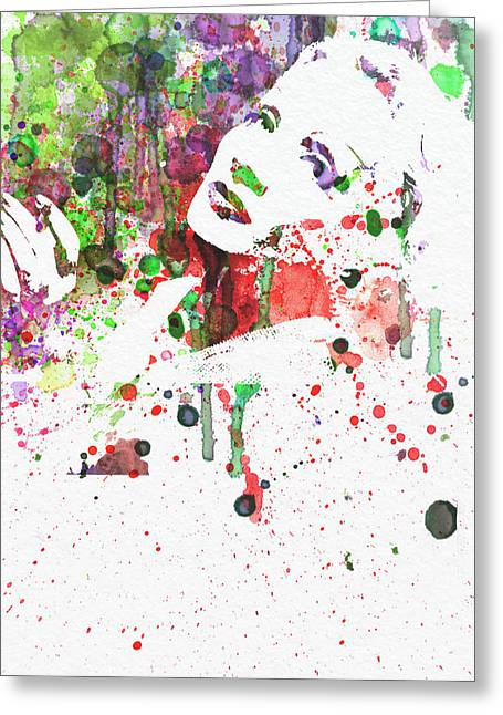 Dietrich Greeting Cards - Marlene Dietrich 3 Greeting Card by Naxart Studio