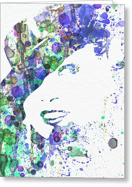 Angel Blues Greeting Cards - Marlene Dietrich Greeting Card by Naxart Studio