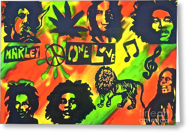 First Amendment Greeting Cards - Marley Forever Greeting Card by Tony B Conscious