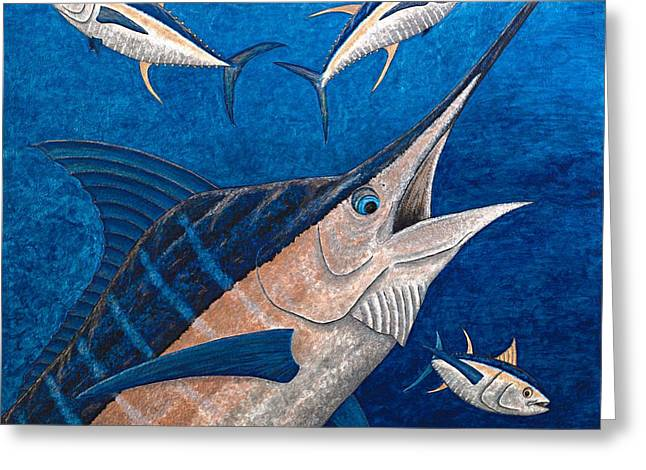 Marlin Greeting Cards - Marlin and Ahi Greeting Card by Carol Lynne
