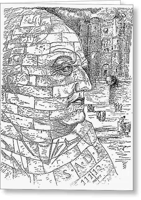 Man Ray Greeting Cards - Marquis De Sade (1740-1814) Greeting Card by Granger