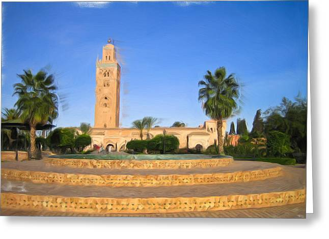Marrakech Greeting Card by Tom Gowanlock