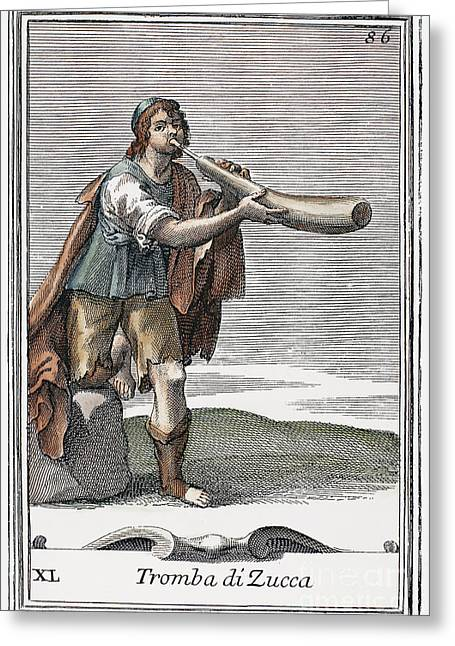 Marrow Trumpet, 1723 Greeting Card by Granger