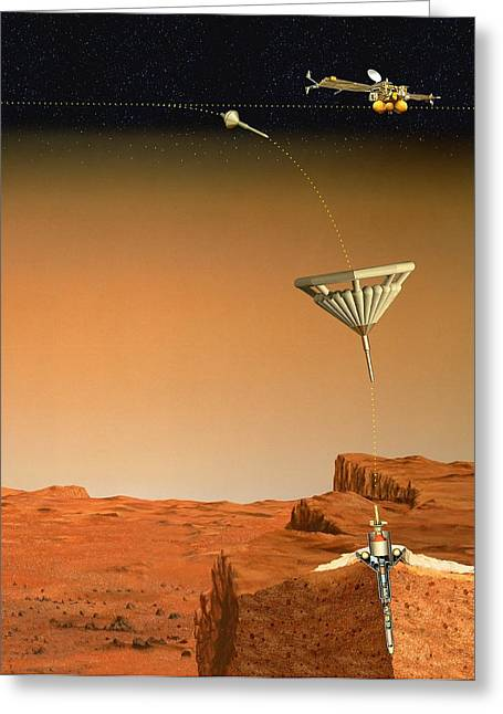 Penetration Greeting Cards - Mars 96 Penetrator, Artwork Greeting Card by David Ducros