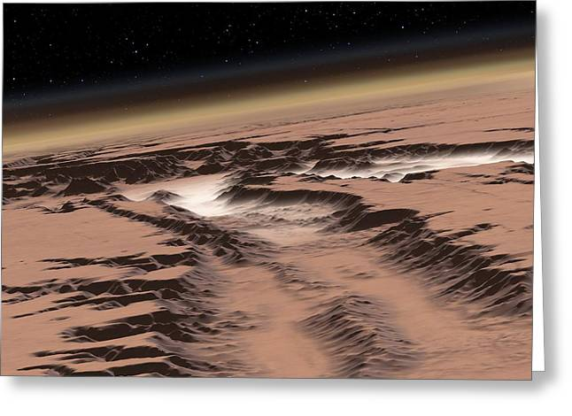 Colonisation Greeting Cards - Mars Before Terraformation, Artwork Greeting Card by Detlev Van Ravenswaay