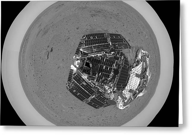Planet Mars Greeting Cards - Mars Exploration Rover On The Surface Greeting Card by Stocktrek Images
