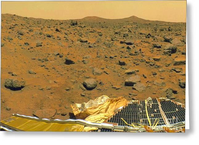 Pathfinder Greeting Cards - Mars Pathfinder Image Of Mars Surface Greeting Card by NASA / Science Source