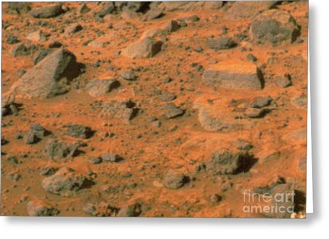 Pathfinder Greeting Cards - Mars Pathfinder Image Of The Surface Greeting Card by NASA / Science Source