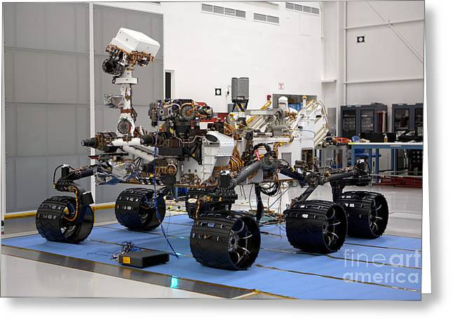 Mars Science Laboratory Greeting Cards - Mars Rover Curiosity Greeting Card by NASA/Science Source