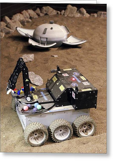 Automated Greeting Cards - Mars Rover Testing Greeting Card by Ria Novosti