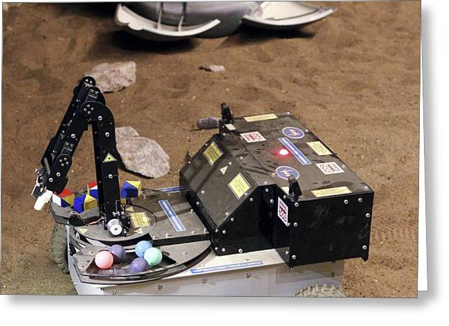 Mars Rover Testing Greeting Card by Ria Novosti