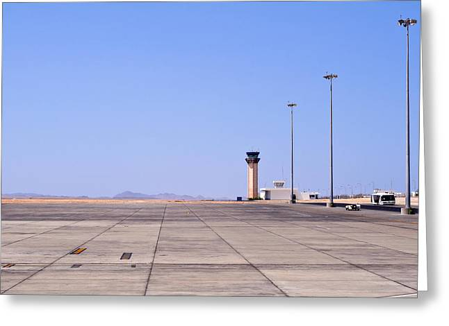 Best Sellers -  - Traffic Control Greeting Cards - Marsa Alam airport. Egypt. Greeting Card by Fernando Barozza