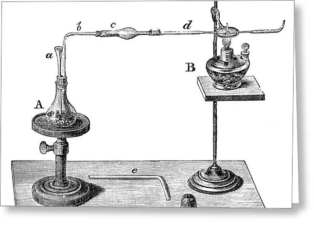 Marsh Test Apparatus, 1867 Greeting Card by Science Source