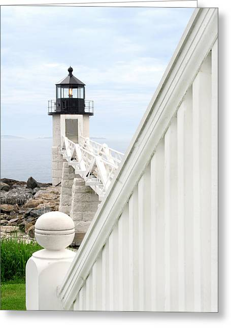 Maine Shore Greeting Cards - Marshall Point Greeting Card by Darren Fisher