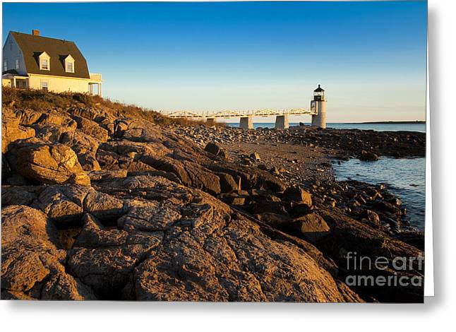 Marshall Point Lighthouse Greeting Card by Brian Jannsen
