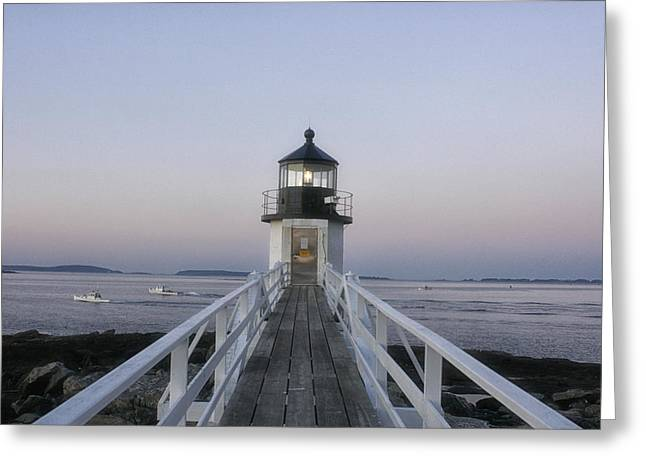 Maine Shore Greeting Cards - Marshall Point Lighthouse Greeting Card by Cindi Ressler