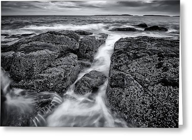 Maine Photographs Greeting Cards - Marshall Point Tide Greeting Card by Chad Tracy