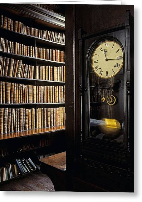 Large Clock Greeting Cards - Marshs Library, Dublin City, Ireland Greeting Card by The Irish Image Collection