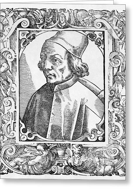 1400s Greeting Cards - Marsilio Ficino, Italian Philosopher Greeting Card by Middle Temple Library