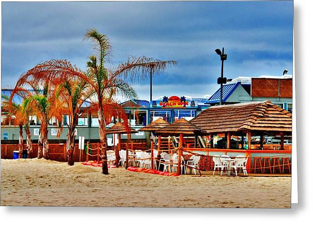 Vacation Digital Art Greeting Cards - Martells On The Beach - Jersey Shore Greeting Card by Angie Tirado