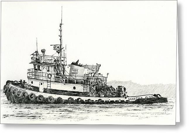 Maritime Print Greeting Cards - MARTHA FOSS Near Shore Greeting Card by James Williamson