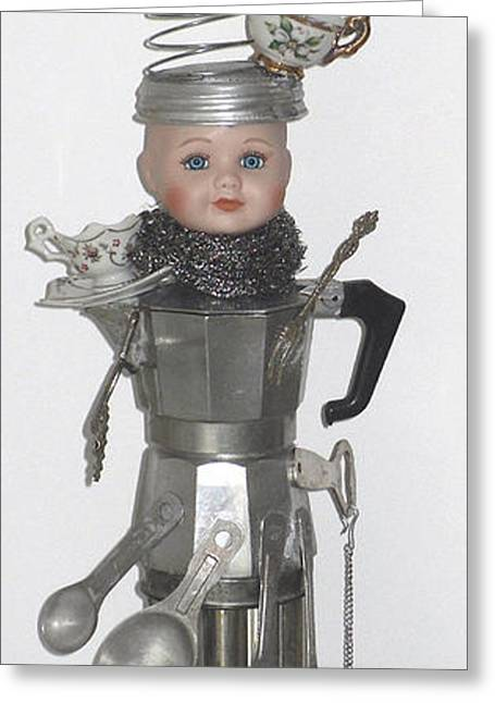 Silver Sculptures Greeting Cards - Marthas Baby Greeting Card by Donna La Placa