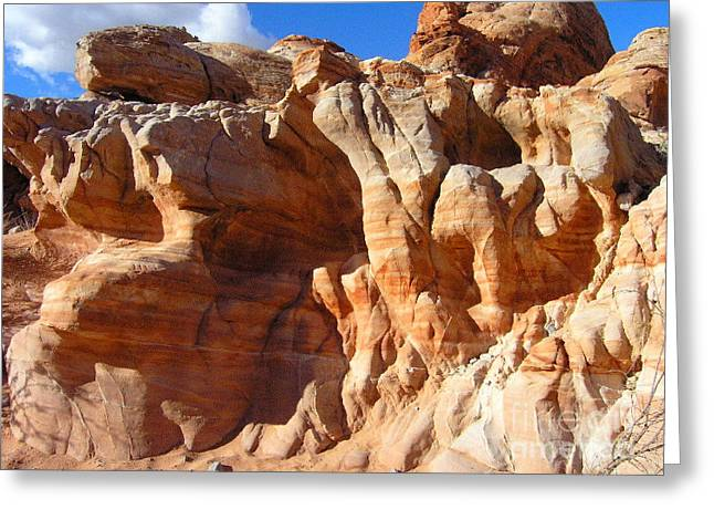 Silvie Kendall Photographs Greeting Cards - Martian Cliffs Greeting Card by Silvie Kendall
