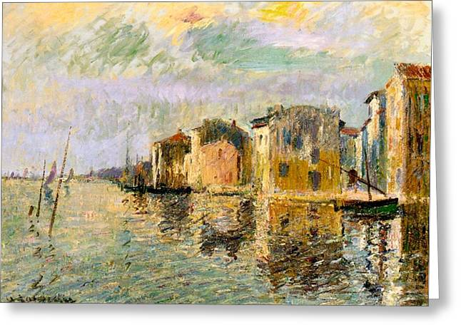 South Of France Greeting Cards - Martigues in the South of France Greeting Card by Gustave Loiseau