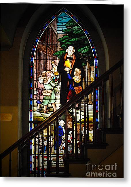 Zion Lutheran Church Greeting Cards - Martin Luther at Historic Zion Greeting Card by Jost Houk