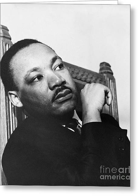 Civil Rights Greeting Cards - Martin Luther King, Jr Greeting Card by Photo Researchers